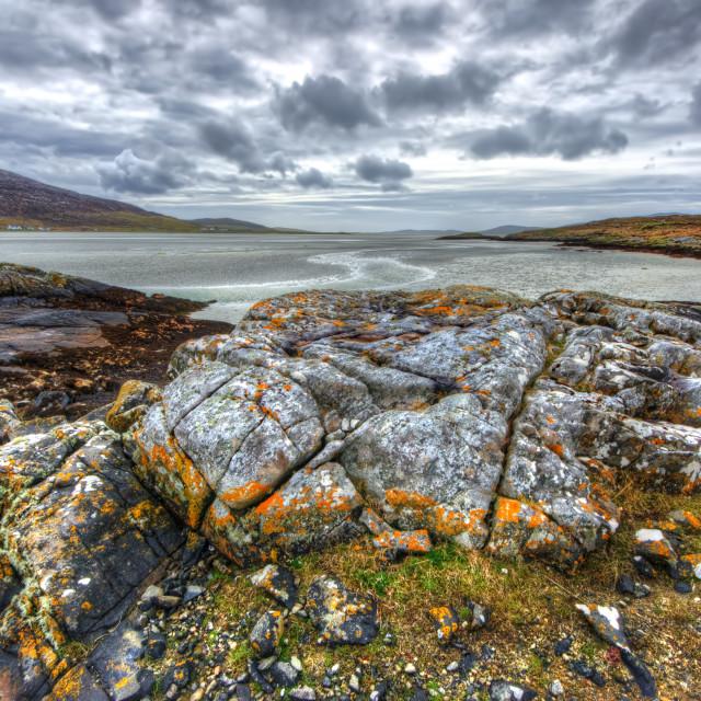 """Seilebost, Isle of Harris"" stock image"