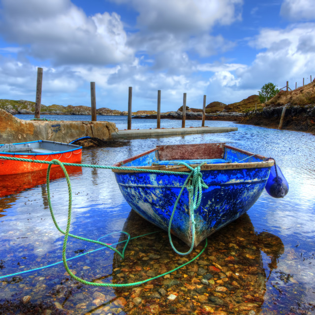 """Flodabay, Isle of Harris"" stock image"