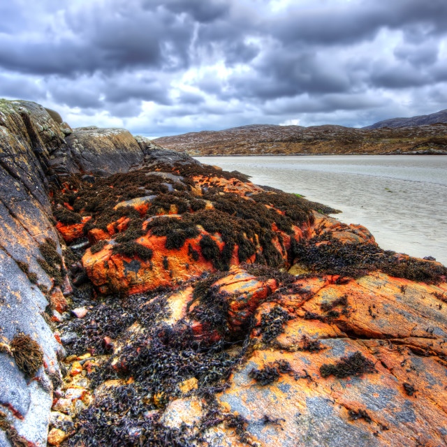"""Seilebost, Isle of Harris"" stock image"