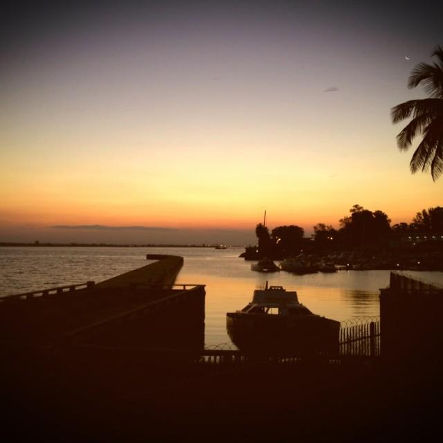 """Maputo sunset"" stock image"