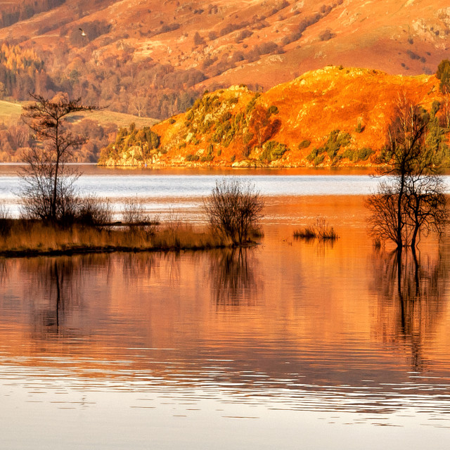"""Autumn Reflections - Ullswater"" stock image"