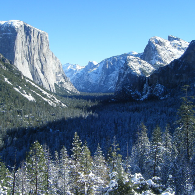 """Yosemite Valley after Snowfall"" stock image"