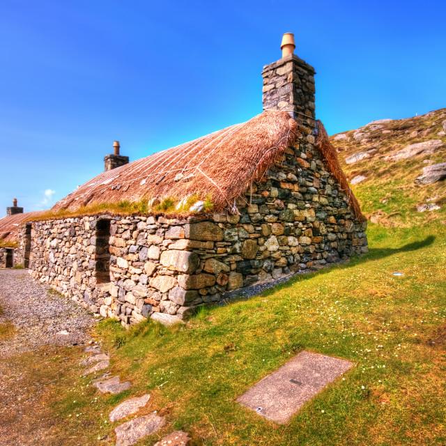"""Gearrannan, Isle of Lewis"" stock image"