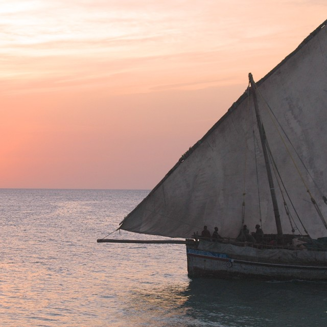 """""""Zanzibari Dhow"""" stock image"""