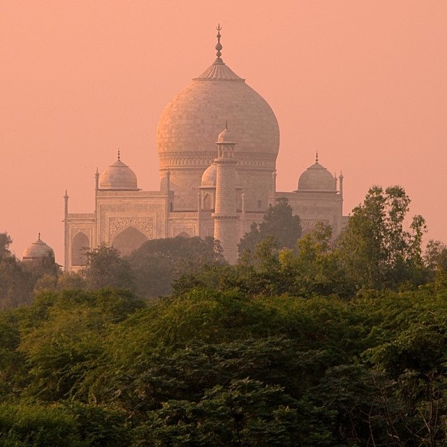 """Taj sunrise"" stock image"