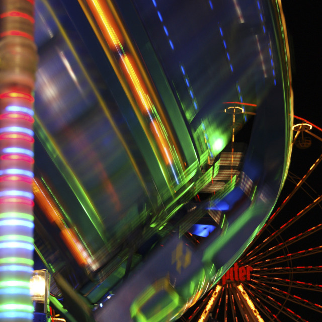 """fairground night"" stock image"