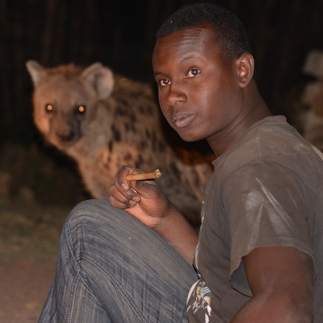 """The Hyena Man of Harar"" stock image"