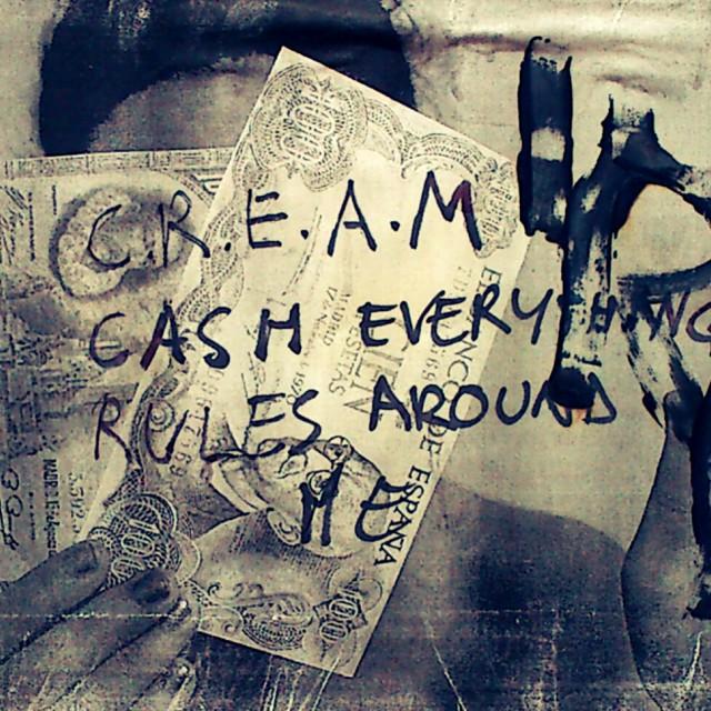 """""""C.R.E.A.M"""" stock image"""