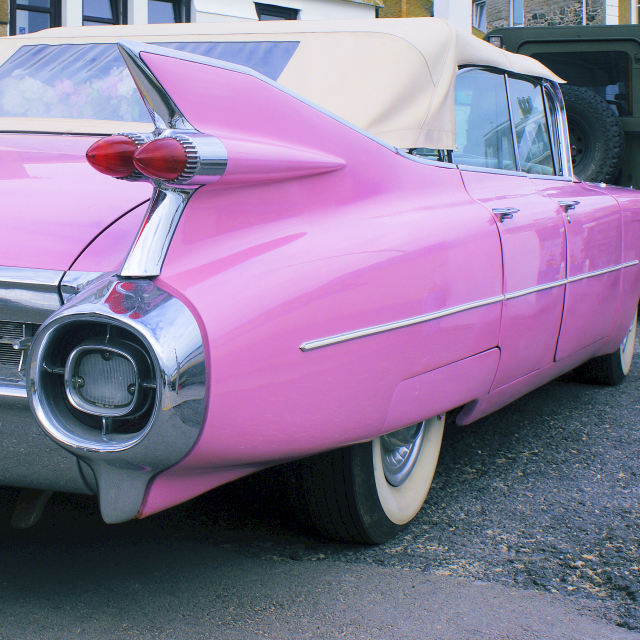 """Pink Caddy"" stock image"
