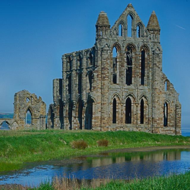 """Whitby Abbey, North Yorkshire"" stock image"