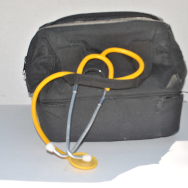 """doctor's black bag"" stock image"