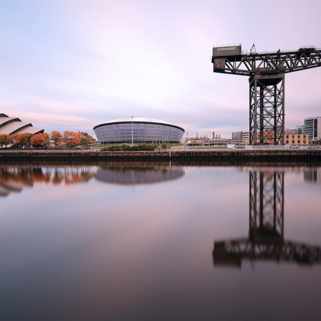 """""""Glasgow River Clyde"""" stock image"""