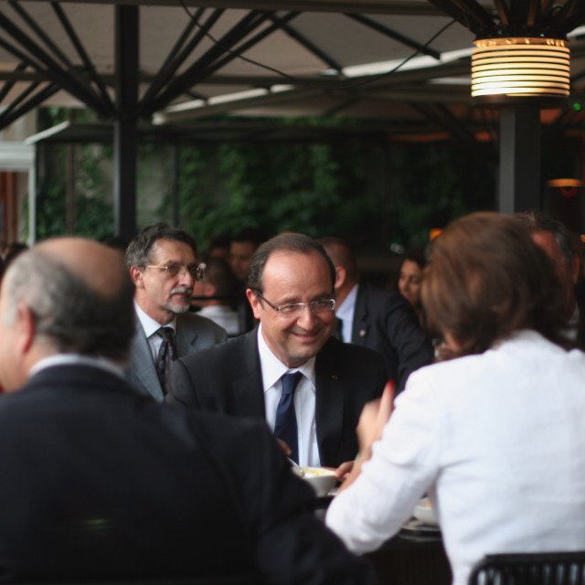 """French President Francois Hollande"" stock image"