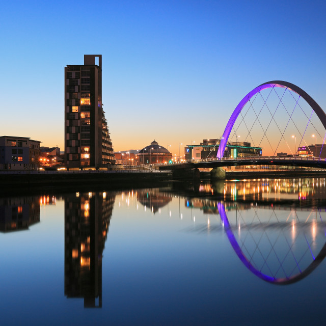 """Glasgow Clyde Arc"" stock image"