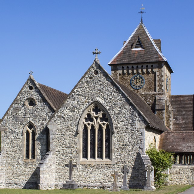 """Village church"" stock image"