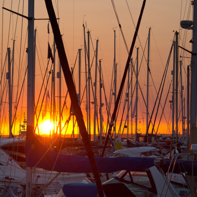 """Marina sunset"" stock image"