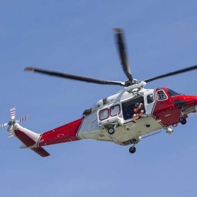 """Rescue helicopter"" stock image"