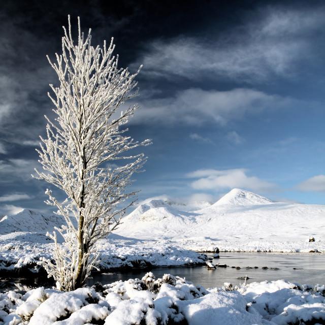 """Glencoe Winter"" stock image"