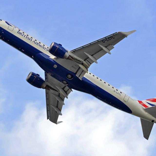 """British Airways Embraer Jet"" stock image"