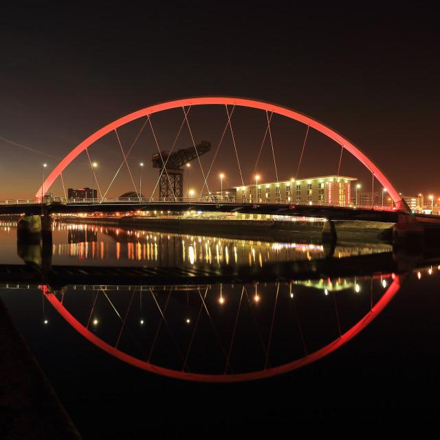 """""""Glasgow Clyde Arc Bridge"""" stock image"""