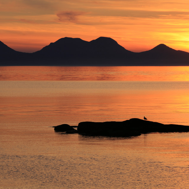 """Jura Sunset"" stock image"