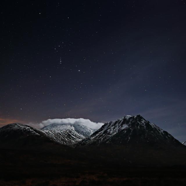 """""""Glencoe Starscape"""" stock image"""