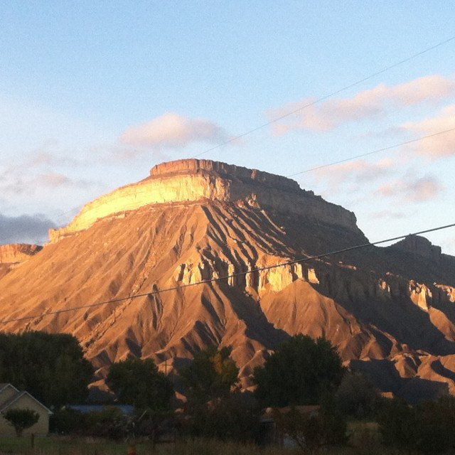 """Mt. Garfield"" stock image"