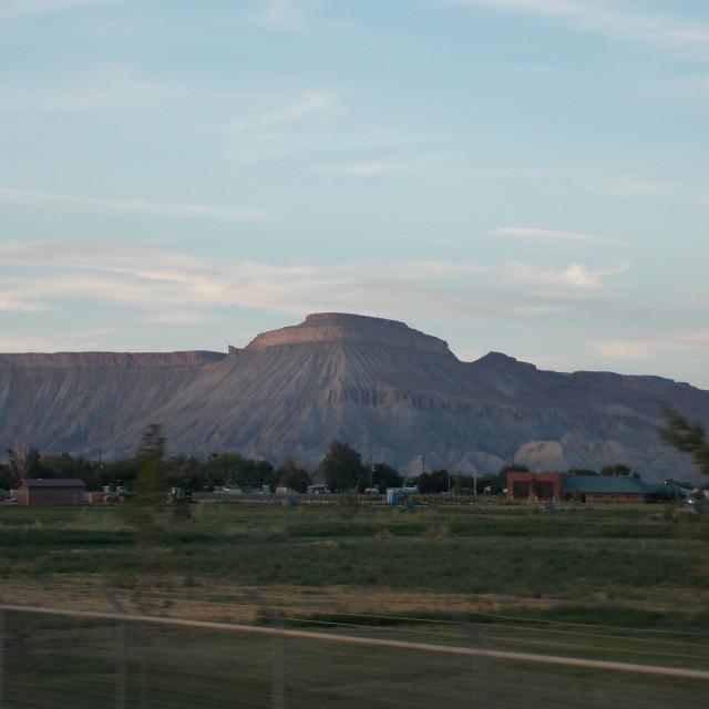 """Mt Garfield"" stock image"