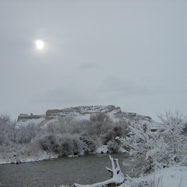 """Scottsbluff at Christmas"" stock image"