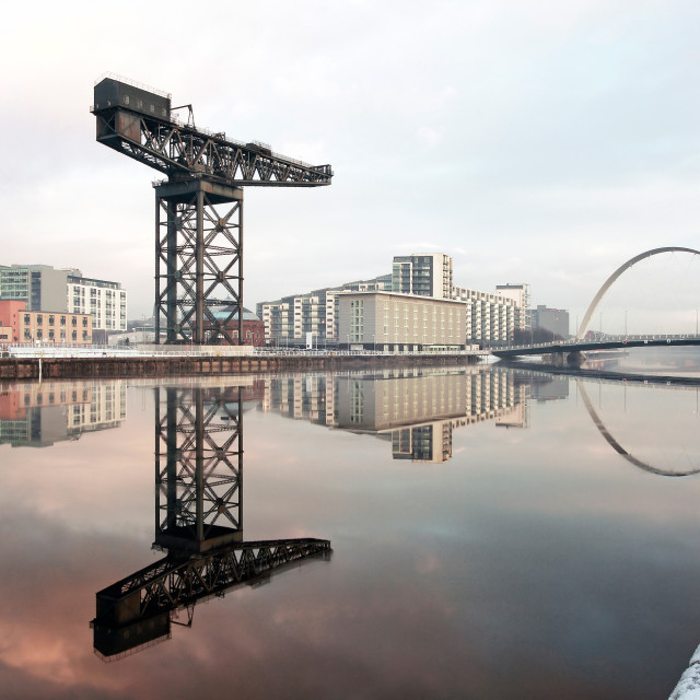 """""""Glasgow Clyde Waterfront"""" stock image"""