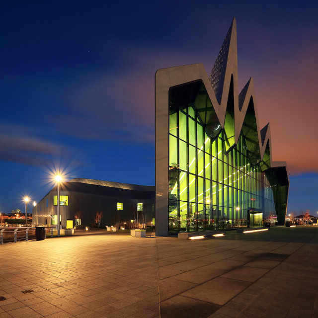 """Glasgow Riverside Transport museum"" stock image"