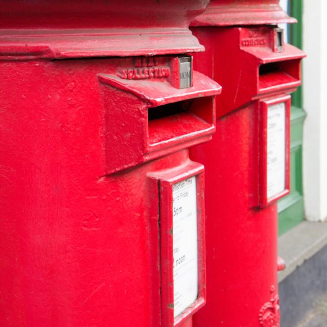 """""""British red mail box"""" stock image"""