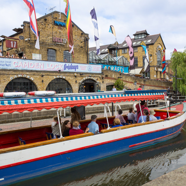 """Camden Lock in London"" stock image"