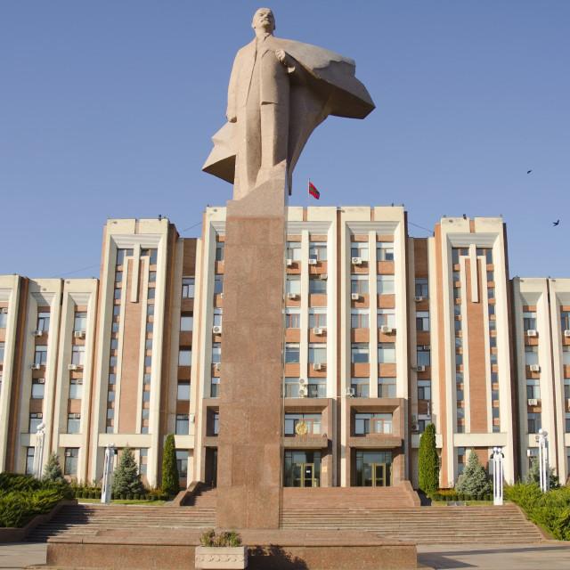 """Transnistria Parliament Building, Tiraspol"" stock image"