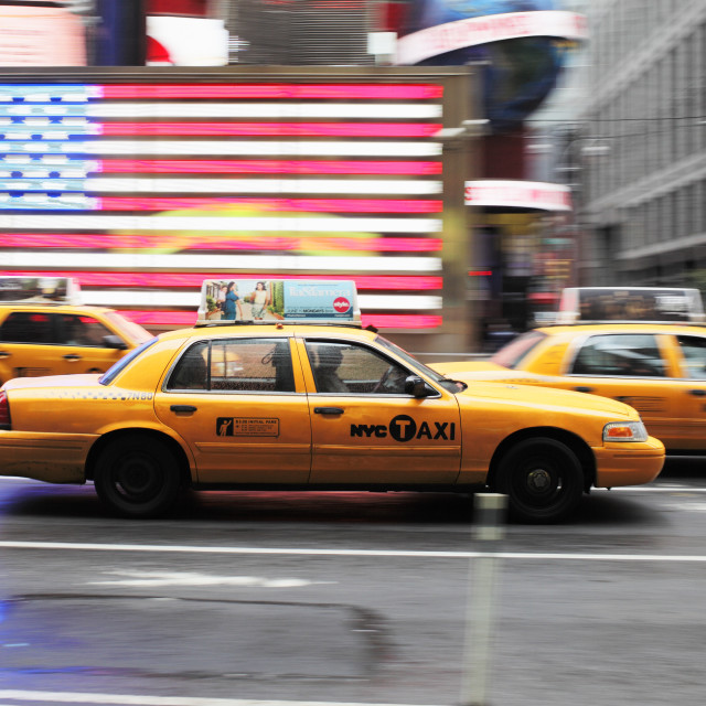 """""""New York Taxi"""" stock image"""