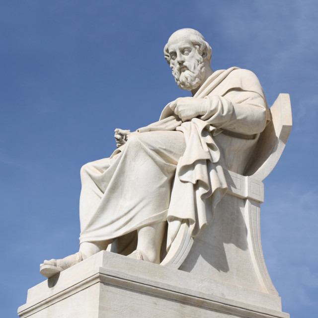 """""""Plato in Athens, Greece"""" stock image"""
