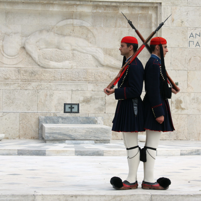 """Evzones in Athens"" stock image"
