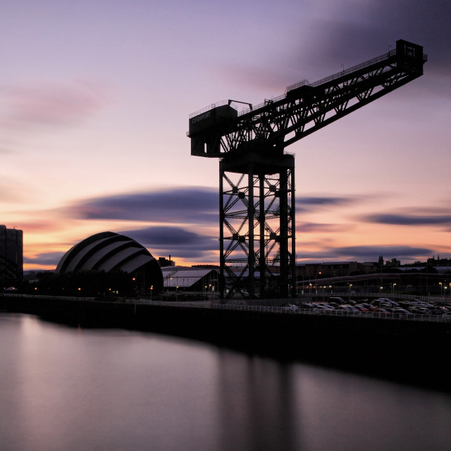 """""""Clyde Sunset"""" stock image"""