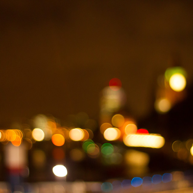 """London skyline, out-of-focus"" stock image"