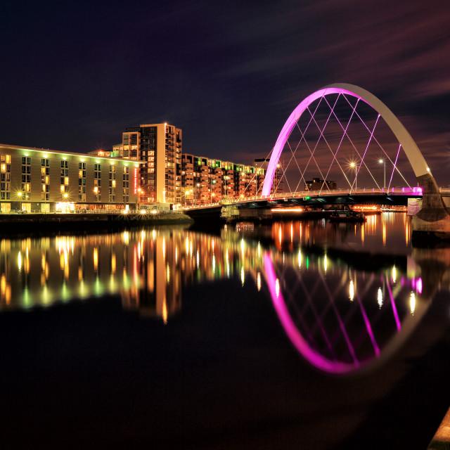 """Clyde Arc bridge"" stock image"