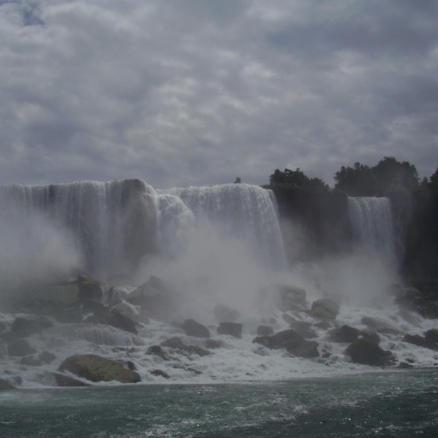 """American Falls/Bridal Veil Falls"" stock image"