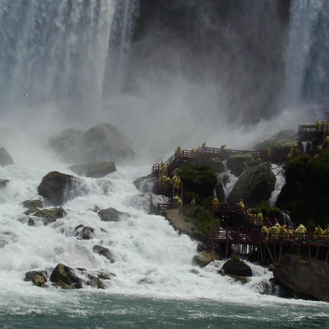 """""""Thrill Seekers at Niagara Falls"""" stock image"""