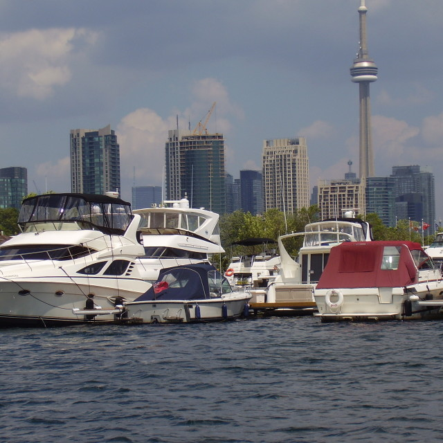 """Boats in Toronto"" stock image"