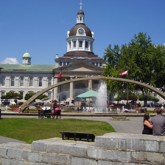 """Confederation Arch Fountain"" stock image"
