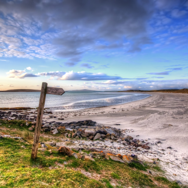 """""""Clachan, North Uist"""" stock image"""