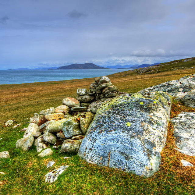 """Beinn Shleibhe, Berneray"" stock image"