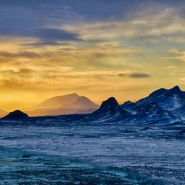 """Iceland Sunset"" stock image"