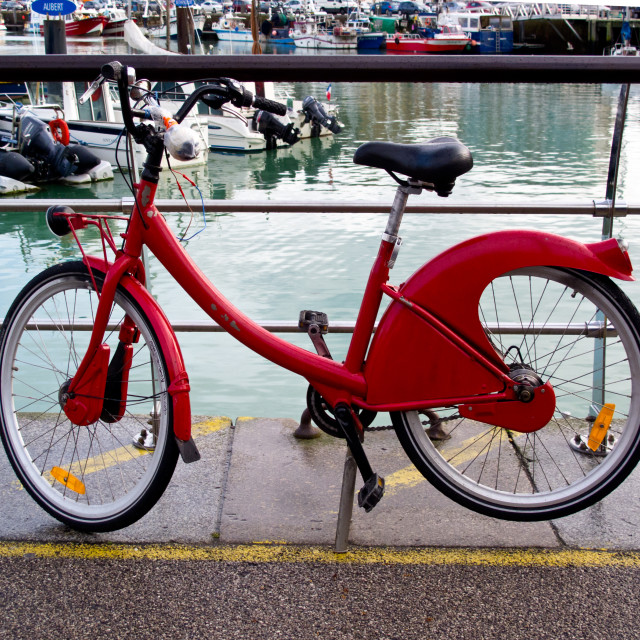 """The Red Bicycle"" stock image"