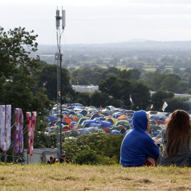 """Glastonbury Sign"" stock image"