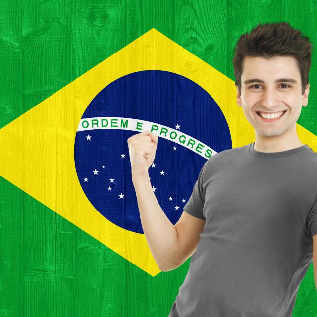 """""""Brazilian Sports Fan"""" stock image"""